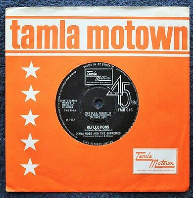 """Diana Ross And The Supremes Reflections Soul Tamla Motown 1960s 7 """" INCH 45RPM"""