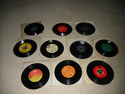 """Collection 10 Country 7"""" vinyl Charley pride Jim Reeves Glen Campbell Ned Miller"""