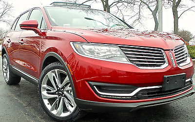 2016 Lincoln MKX Reserve Sport Utility 4-Door 2016 LINCOLN MKX RESERVE AWD/ NAVIGATION/ PANO SUNROOF/ BLIS/ REAR  CAMERA/
