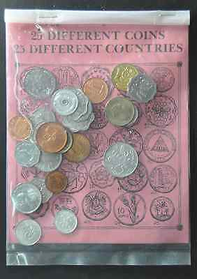 25 Different Coins Different Countries UAE Israel India Ireland Brazil Austria