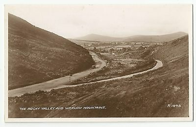 Old Postcard 'The Rocky Valley & Wicklow Mountains' Real Photo