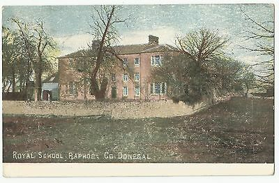 Old Postcard 'Royal School' Raphoe Co Donegal 1906