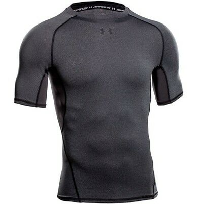 Under Armour 1257468 Men's Carbon Heather HeatGear S/S Compression Shirt