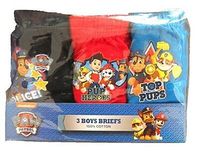 Boys Paw Patrol Briefs. Age 18-24 Months to 4-5 Years