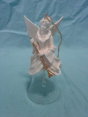 Vintage Ceramic and Glass Angel Papel Bell ..UNIQUE & BEAUTIFUL !!