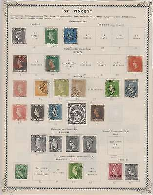 B8044: 19th C St Vincent Stamp Collection; CV $1690