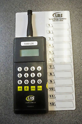 LRS T9550-LCK Waiter Server Paging System Long Range Systems Transmitter only