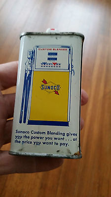 Sunoco Lighter Fluid Can,Shaped Like a Handy Oiler Oil Can,Pic Gas Pump on Back