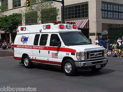 American Ambulance Large LED Flashing lights in BLUE or RED per Pair