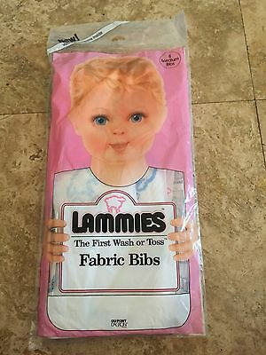 Du Pont Vintage  Baby Bibs Lammies The first Wash or Toss Fabric bibs 8 medium