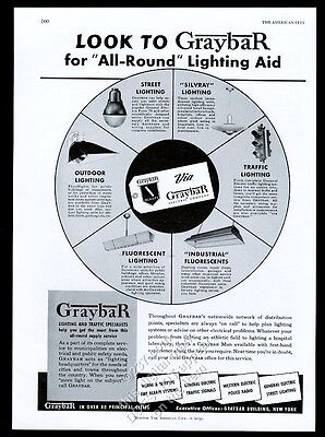 1941 Graybar traffic signal stop light streetlight photo vintage trade print ad