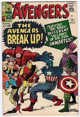 Avengers 10 (1964) VF+ First Immortus!