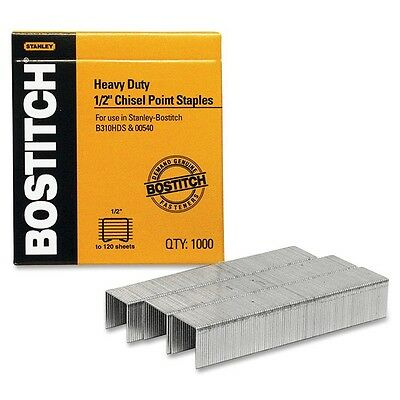 "Stanley-Bostitch 1/2"" Heavy-duty Staples - 1000 per box"