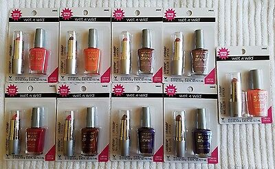 wet n wild silkfinish LIPSTICK/wildshine NAIL COLOR Duo***yOu chOOse cOLOr***NEW