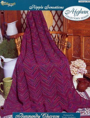 Picot Shells Afghan TNS Ripple Sensations Crochet Pattern Leaflet NEW