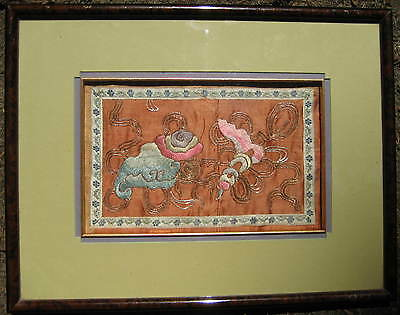 Antique Chinese Silk Embroidery  Beautifully Framed and Matted Rank Badge?