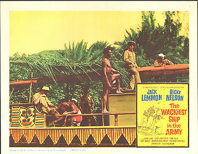 THE WACKIEST SHIP IN THE ARMY original 1960 lobby card JACK LEMMON 11x14 poster