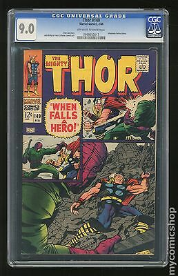 Thor (1962-1996 1st Series Journey Into Mystery) #149 CGC 9.0 (0098650017)
