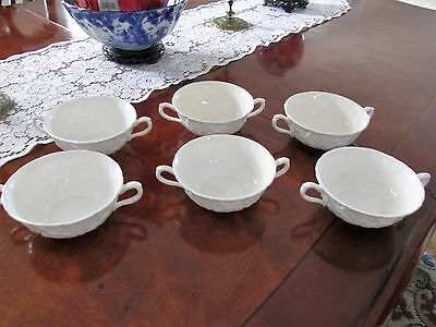 Set of 6 Coalport Countryware White Bone China Cream Soup Bowls
