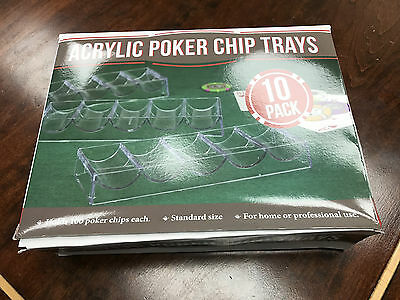 Acrylic Poker Chip Trays Pack of 10