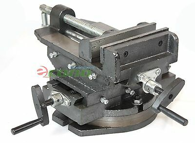 "Hd 6"" Cross Vise Two Way Slide 360° Swivel Vise  Drill Press Milling Machine"