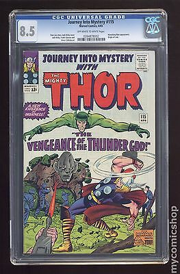 Thor (1962-1996 1st Series Journey Into Mystery) #115 CGC 8.5 (0264878002)
