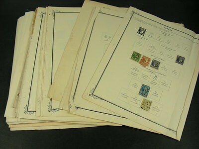 GREECE, Excellent Accumulation of Stamps hinged on pages & in stockpages