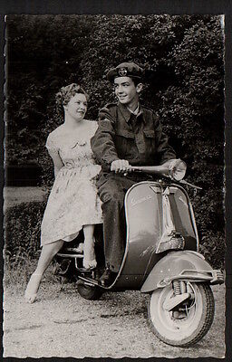 Ab2558   Sport  Motor Cycle Vespa Scooter  Rppc