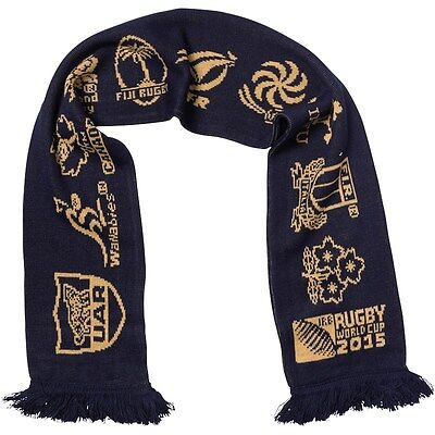 England Rugby 2015 World Cup 20 Nations Logo Scarf Navy
