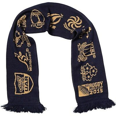 England Rugby 2015 World Cup - 20 Nations Logo Scarf Navy