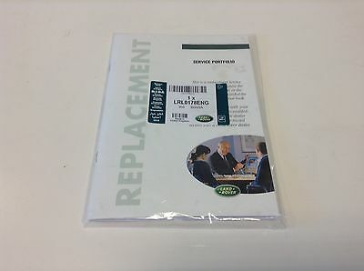 Genuine Land Rover Replacement Service Book (Lrl0178Eng)