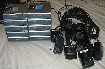 (10) Cisco Linksys SPA2102 Router & (10) Power Supplies Lot -  ALL WORKING