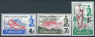 Gibraltar. 1966. MNH. SG. 190,191,192. Fishing Competitions. (L075)