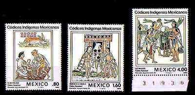 # MESSICO MEXICO MEXIKO - 1982 - Codices   Art Painting - Set 3 Stamps MNH