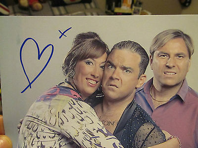 Miranda Hart Hand Drawn Heart & Kiss On Photograph