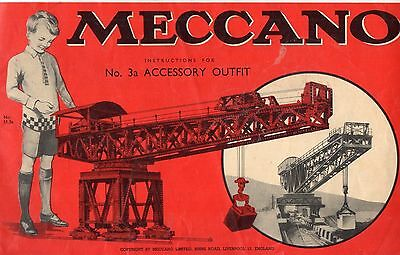 Meccano Instructions for No.3A Accessory Outfit 1951