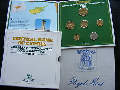 Cyprus Coin Set 1983 In Folder