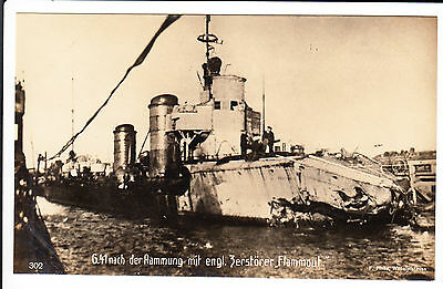 Imperial German torpedo boat S.M.S. G.41 - after collision with English destroye