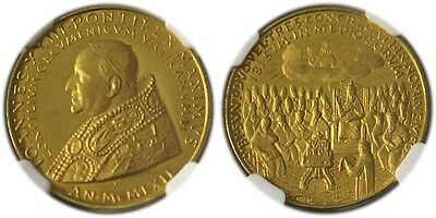 1962 Italy Vatican Gold Medal Ngc Ms64