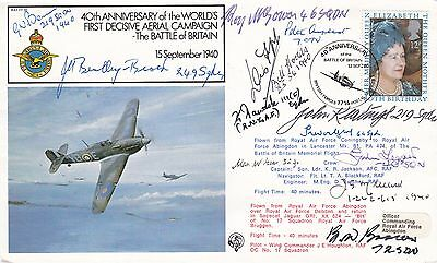 FF20c World's 1st decisive aerial campaign WW11 Signed 13 Battle of Britain Pilo
