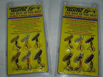 2 Panther Martin- Deadly Six Pack-Best of the Best-Red Hooks Fishing LURES