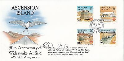Anniv Wideawake Airfield  Ascension FDC Signed Swordfish Pilot E Dixon – Child