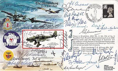 RAFA3 Cover 50th Anniv Battle of Britain Signed 29 Pilots, Crew WAAF Battle of B
