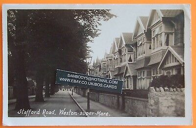 VINERS RP Postcard POSTED 1926 STAFFORD ROAD WESTON SUPER MARE SOMERSET