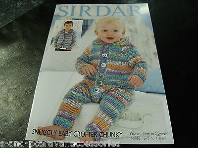 1225d77f0160 SIRDAR 4791 KNITTING Pattern Cardigans in Snuggly Baby Crofter ...