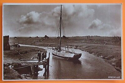 RP Postcard POSTED 1939 RIVER & WHARF UPHILL WESTON S MARE SOMERSET