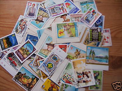 30 Different Scout Stamps,excellent Theme.