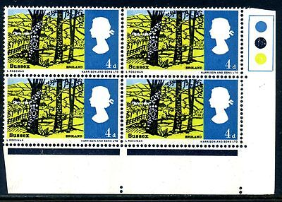 1966 Landscapes 4d phosphor traffic light block (MNH)