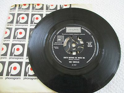 THE TURTLES - SHE'D RATHER BE WITH ME / THE WALKING SONG -45 rpm VINYL-1967