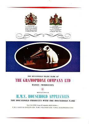 """""""HIS MASTERS VOICE"""" GRAMOPHONE Co. - Nipper the Dog    (Advertisement)"""